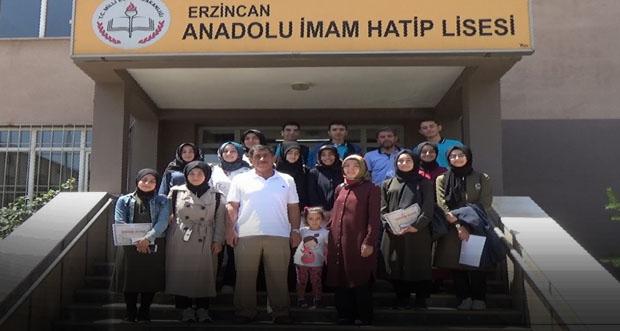 Erzincan ilini başarılı bir şekilde temsil ediyorlar