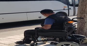 Engelli yolcu otobüse binemedi