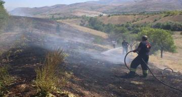 Yangın, İtfaiye Ekipleri ve Köylüler Tarafından Söndürüldü