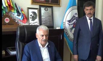 Erzincanlılar Binali Yıldırım'ı Bağırlarına bastılar