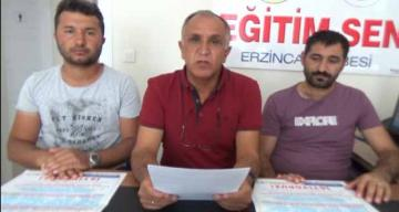 Erzincan KESK temsilciliği tarafından açıklama yapıldı