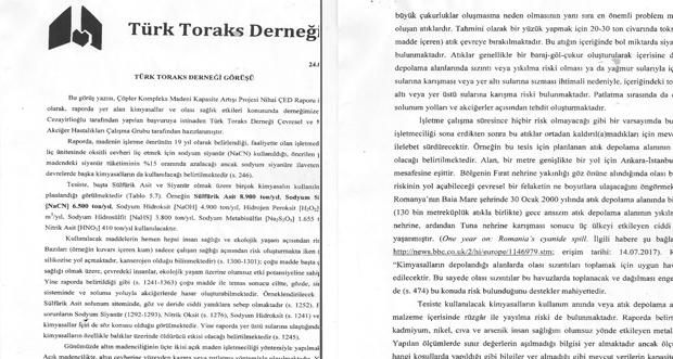 Türk Toraks Derneği 'nin İliç Anagold Madeni İçin ilginç Raporu