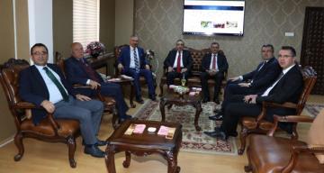 Erzurum Protokolünden Rektör Prof. Dr. Akın Levent'e Ziyaret