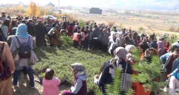 Erzincan'da binlerce fidan geleceğe nefes oldu